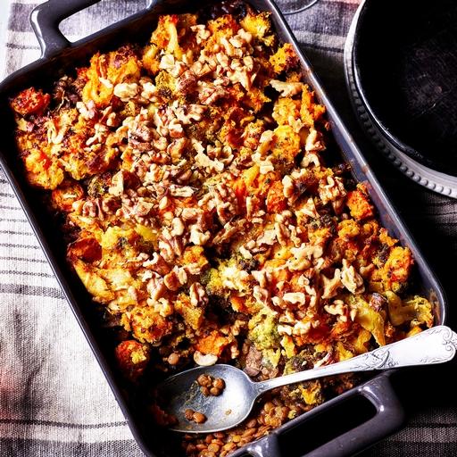 Rebel Recipes' Ultimate Winter Roast Lentil & Veg Bake