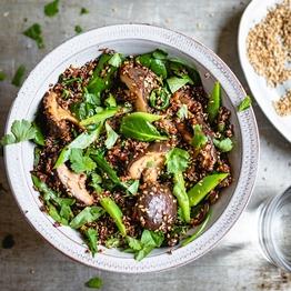 Five-spice Mushroom Quinoa Stir-fry