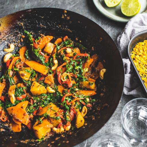 Sweet & Sour Cashew Stir-fry