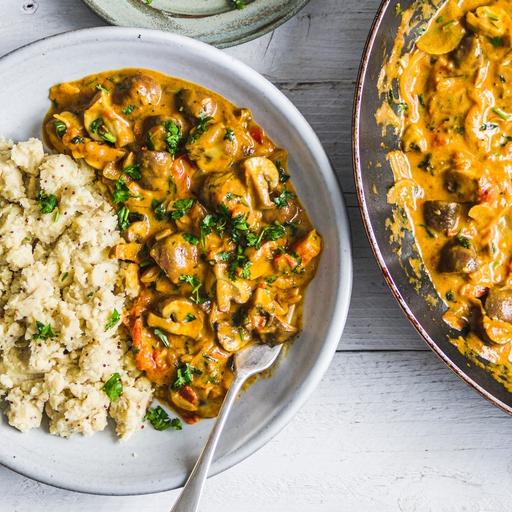 Mushroom Korma Curry & Indian Mash