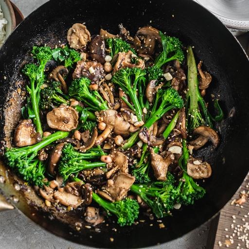Sesame Rice with Teriyaki Mushrooms