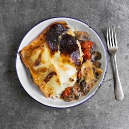Spinach, Mushroom & Lentil Lasagne