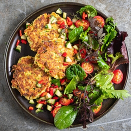 Buffalomi Courgette Fritters & Salsa