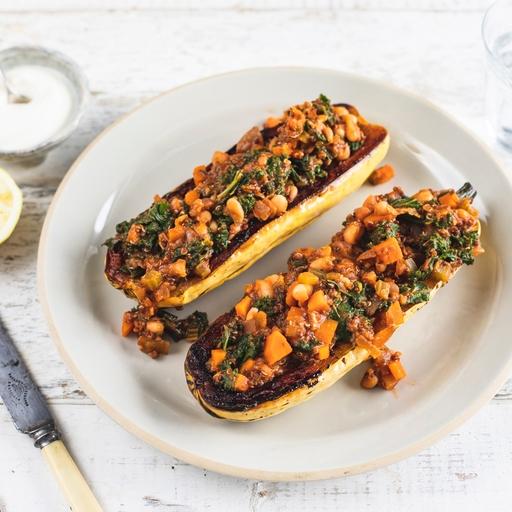 Roast Squash, Kale & Rosemary Chilli