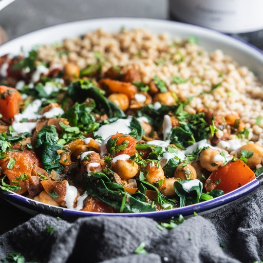Lebanese Spinach & Chickpeas