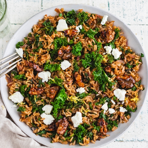 Herb Pilaf with Honeyed Walnuts