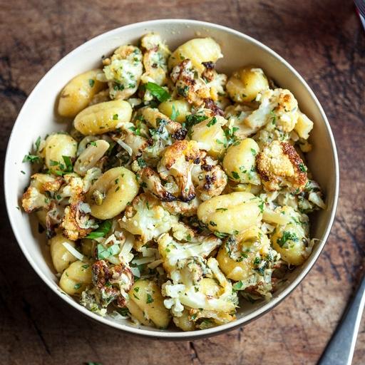Cauliflower Gnocchi & Crispy Garlic